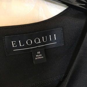 Eloquii Tops - Eloquii 16 NWOT black key hole peplum top